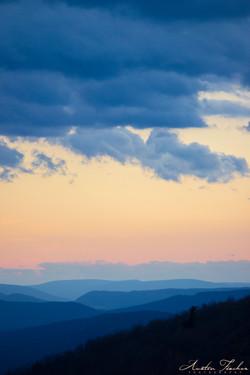 Sunset Over PA Ridges