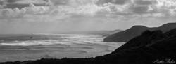 Waitakere Shore Cliffs BnW