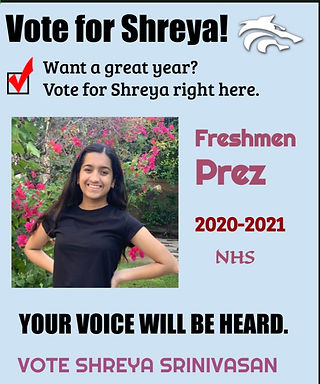 Freshmen President Campaign Poster- Shre
