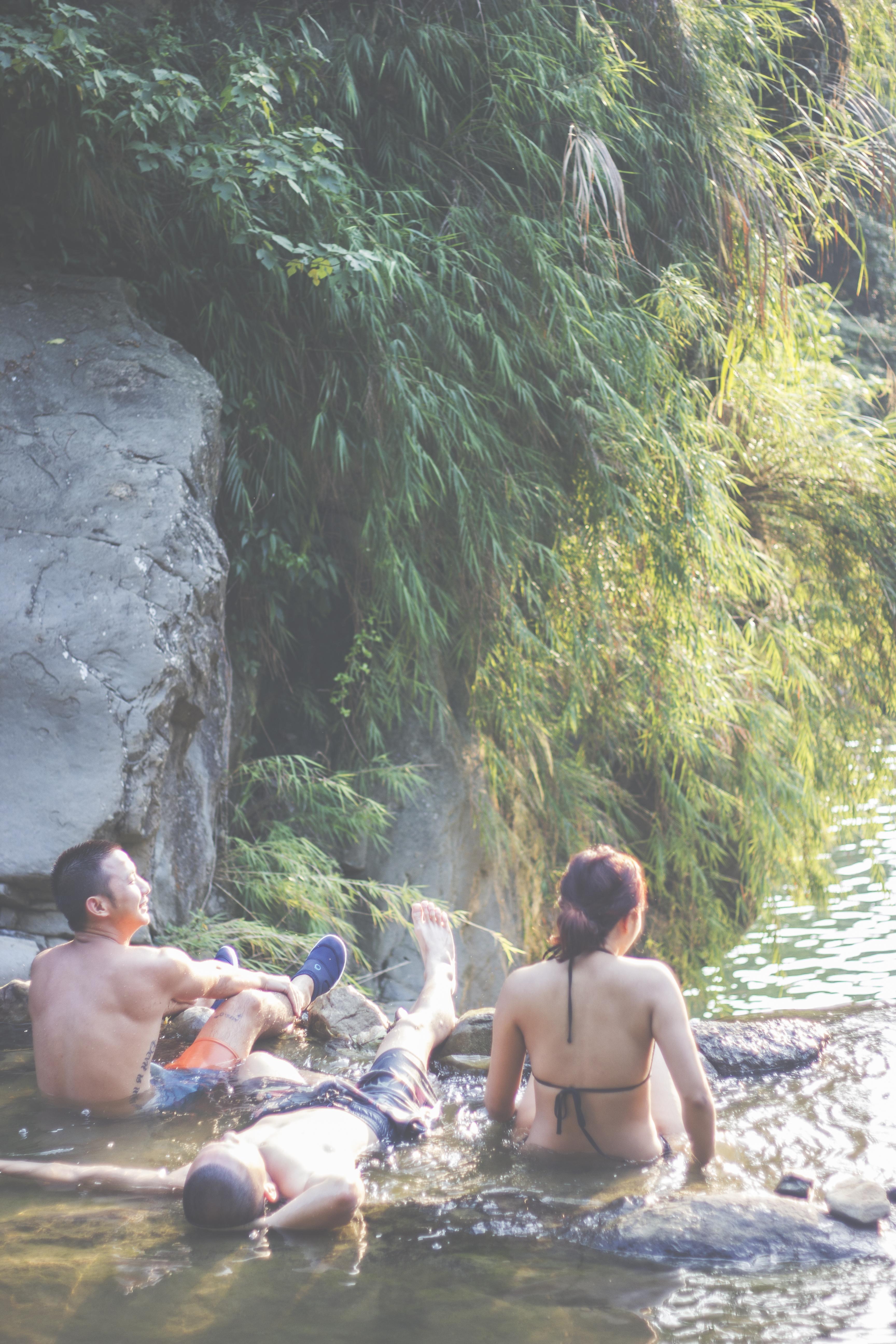Waterfall Lounging