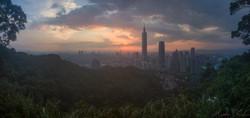 Taipei Sunset Pano