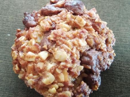 עוגיות גרנולה שוקולד עם נגיעות ג'ינג'ר