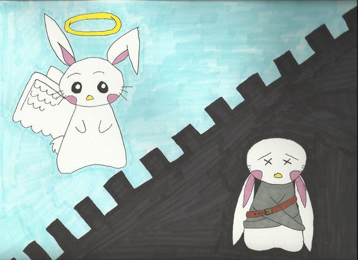 God sees me like the Bunny on the left