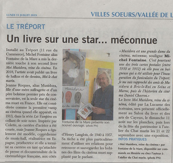 Moi Musidora article Paris Normandie lun