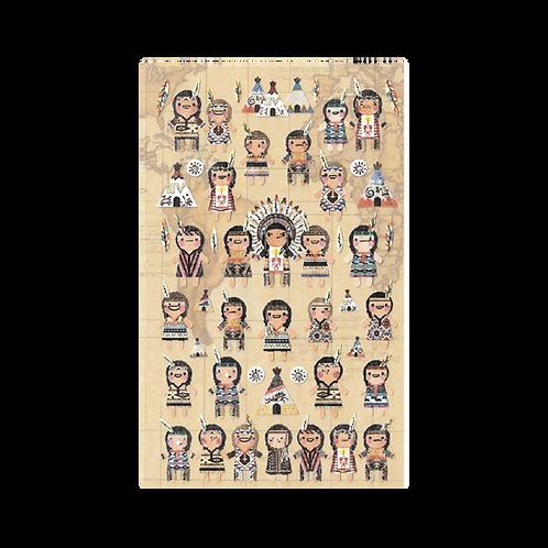 Sticker - On Küçük Kızılderili