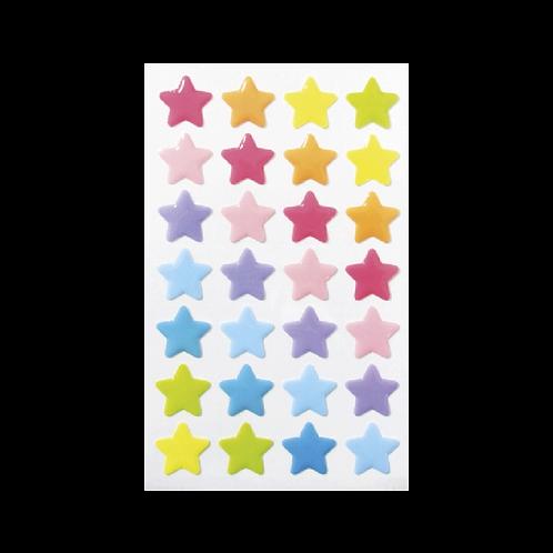 Sticker - Pastel Renkli Yıldızlar
