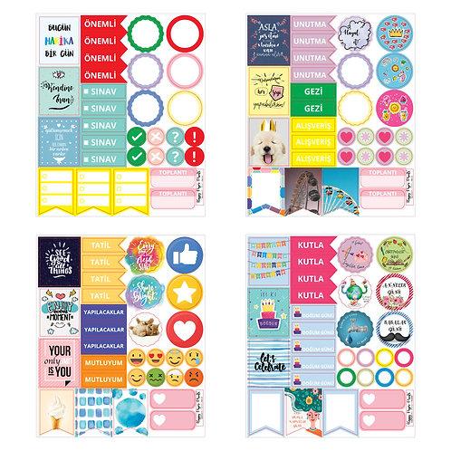 Planlayıcı Sticker Seti