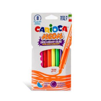 Carioca Neon Keçeli Boya Kalemi 8 Renk 42785