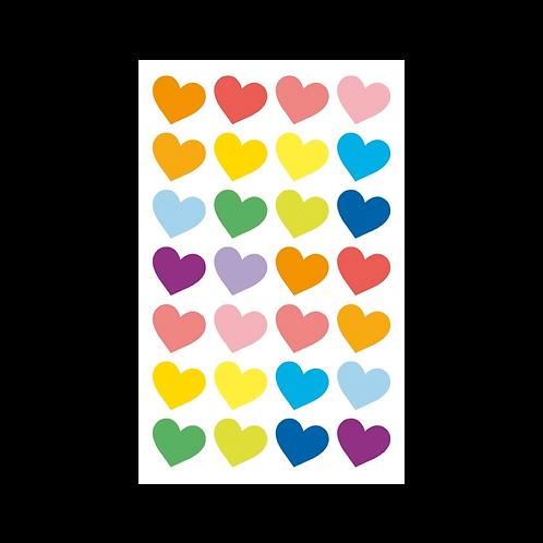 Sticker - Renkli Kalpler