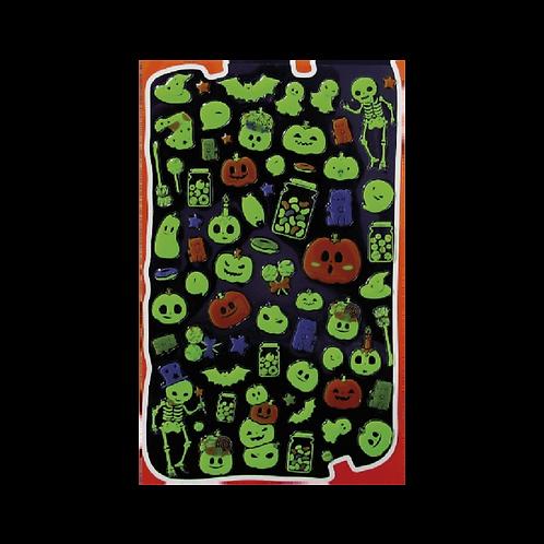 Sticker - Fosforlu İskeletler ve Hayaletler