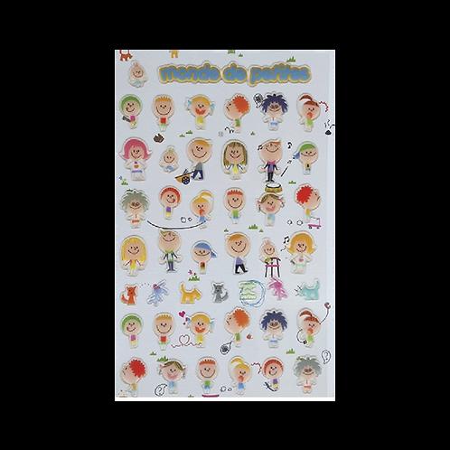 Sticker -Kabartmalı Çocuklar