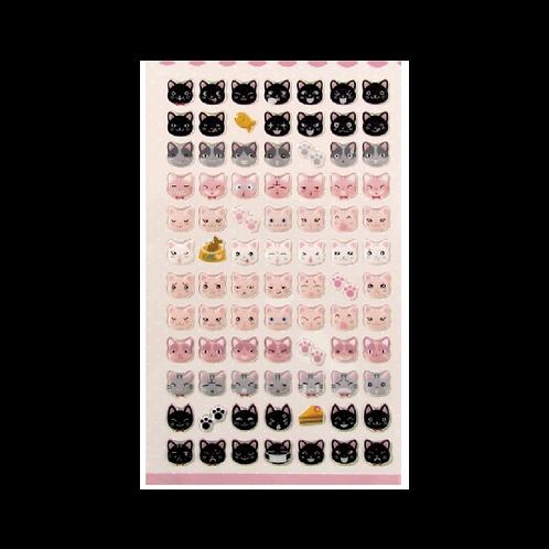Sticker -Renkli Kediler