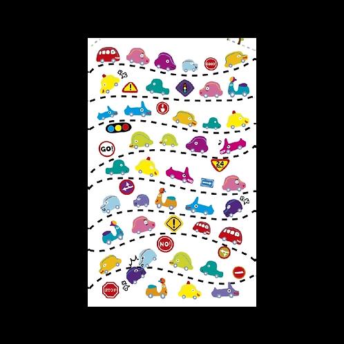 Sticker - Kabartmalı Taşıtlar