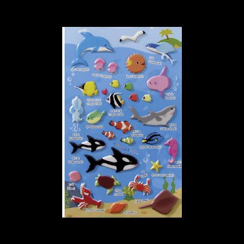 Sticker - Deniz Hayvanları