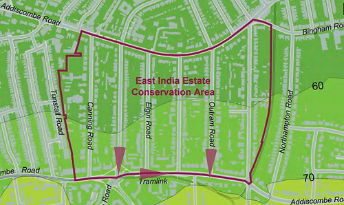 East India Estate Conservation Area map