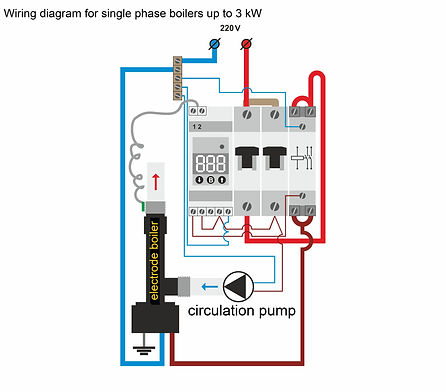 Wiring diagram for electric boilers on