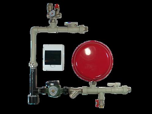 Hydrauliczny zestaw wiszący naścienny z kotłem elektrodowym Ognisko 2, 3, 5 lub 6 do instalacji grzewczej.