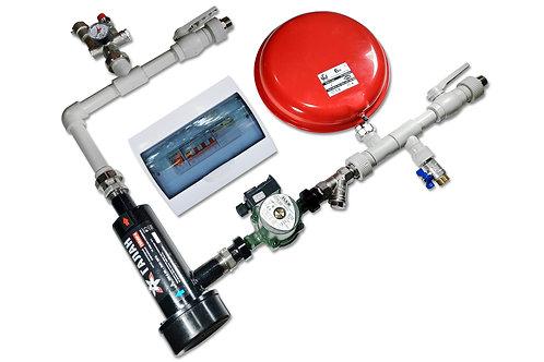 Set sospeso idraulico per il riscaldamento con caldaia ionica Vulcano 25 per il sistema di riscaldamento