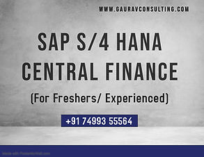 SAP S4 HANA Central Finance - Made with