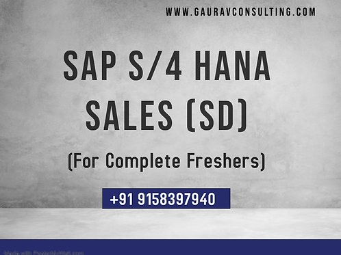 SAP S/4 HANA Sales (SD) 2020 Live Training