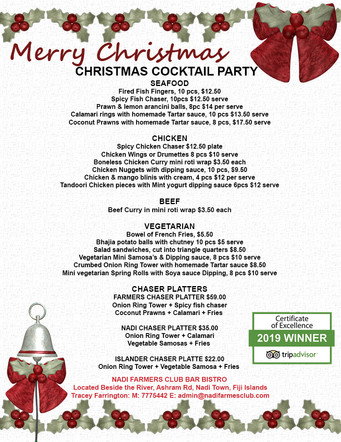 CHRISTMAS Cocktail Party Finger Food Men