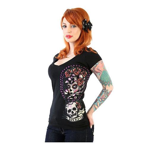 Lucky 13 Shadow Lady T-Shirt Black