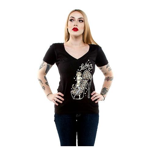 Lucky 13 Cat Heels Womans T-Shirt