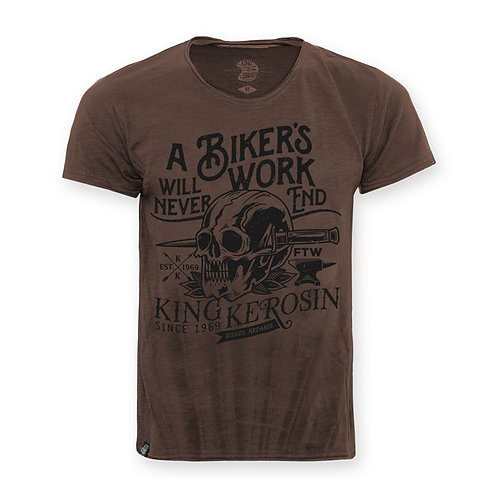 King Kerosin Biker's Work T-Shirt