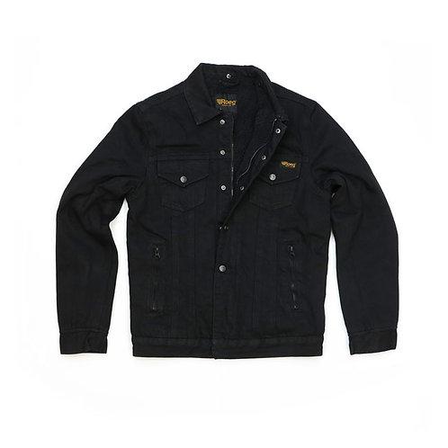 ROEG Jack Trucker Jacket Black Denim