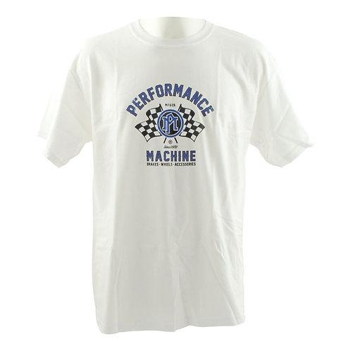 Performance Machine White Racing T-Shirt