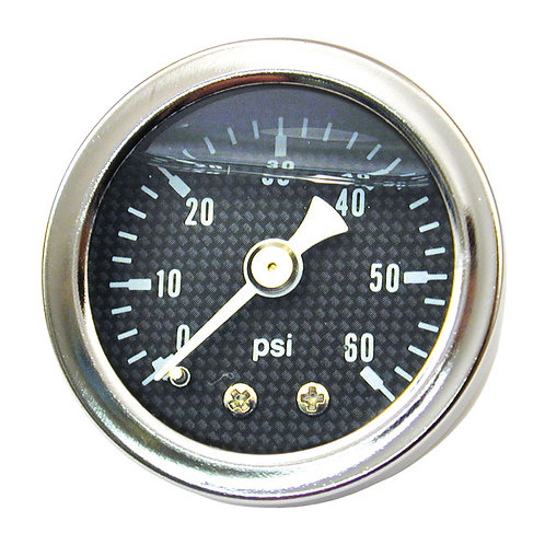 Carbon Face Oil Pressure Gauge