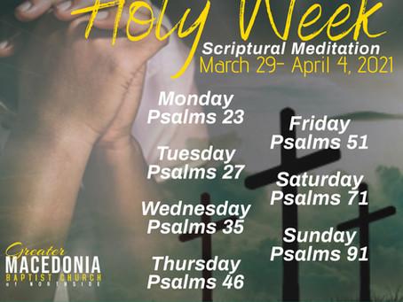 Holy Week Scriptural Meditation