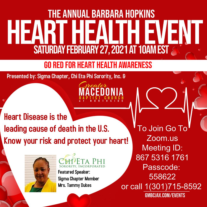 Heart Health event poster - Made with Po