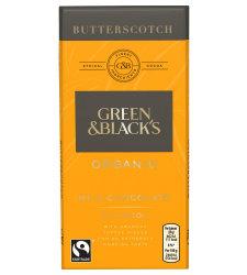 Chocolate Butterscotch Green & Black