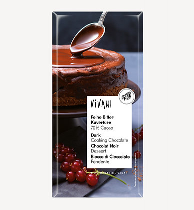 Dark Cooking Chocolate 70% 200g Vivani