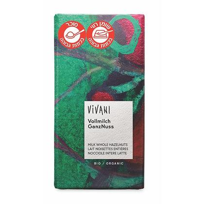 Milk Hazelnut Chocolate 100g Vivani