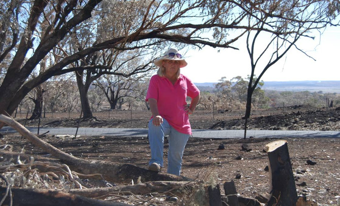 Western grazier fights back after fire