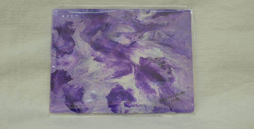 Acrylic Pour, Purple - 6 x 8 on Canvas