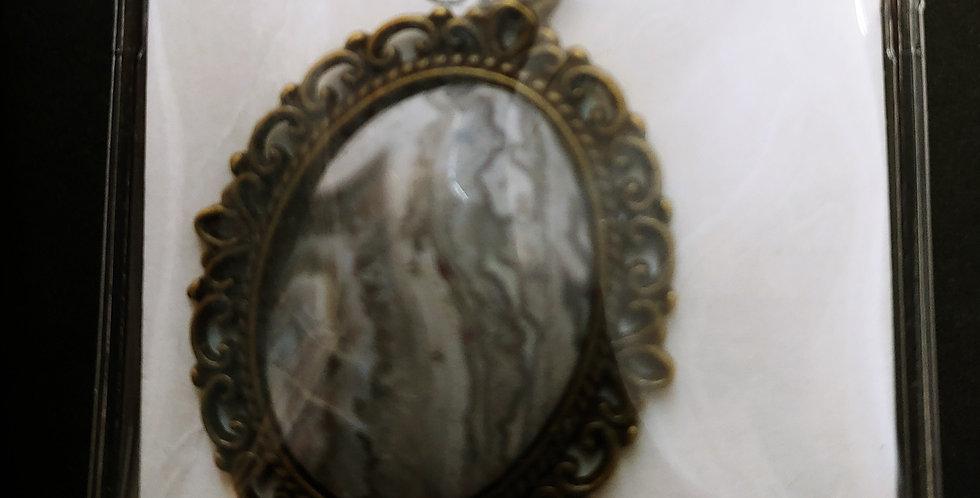 Black Lace Agate Necklace