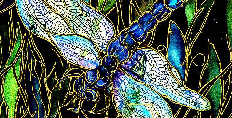 Art Tile-Dragonfly