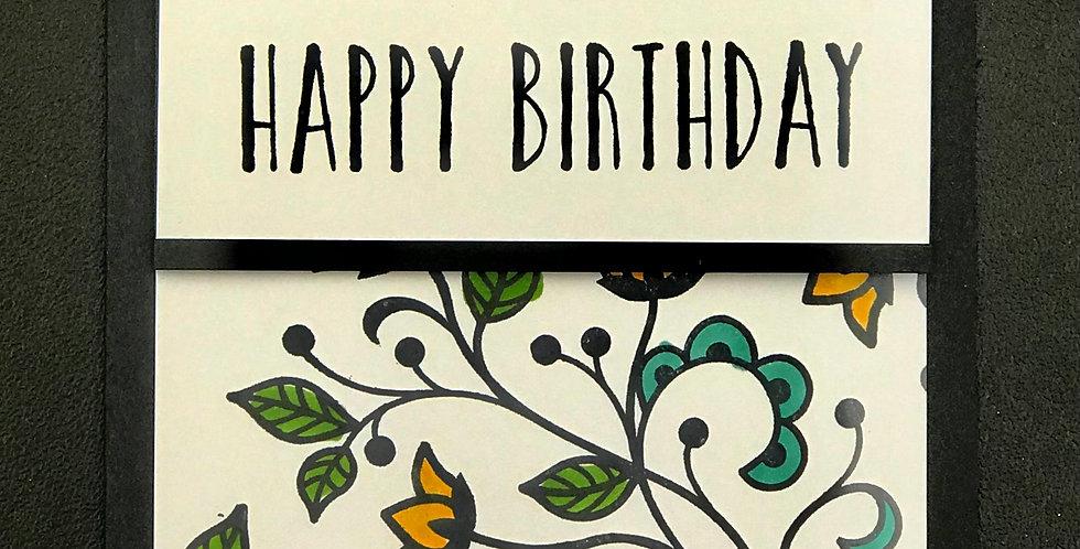 """Card, 4.5""""x5.5""""- Happy Birthday."""