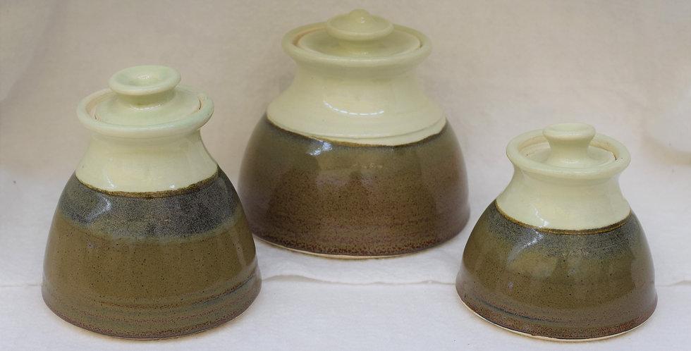 Stoneware Pots sold individually or as set