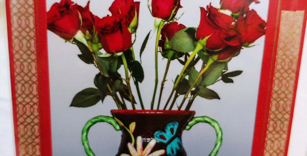 A Dozen Red Roses greeting card