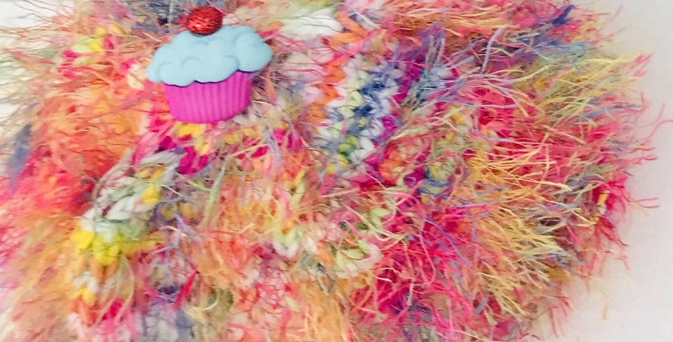 Baby Hat Cupcake/Cotton & Acrylic Yarns