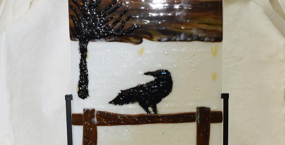 Winter Crow w/tree