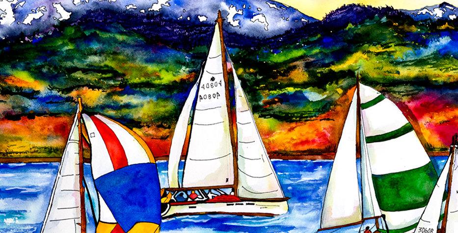 Cutting Board -Sailing