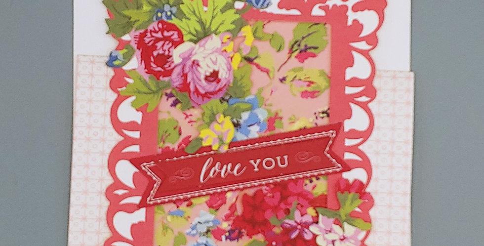 "Card, 5""x6"" - love you. Blank inside."