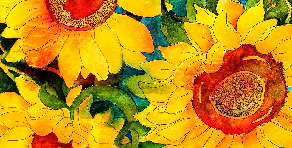 Cutting Board -Golden Sunflowers