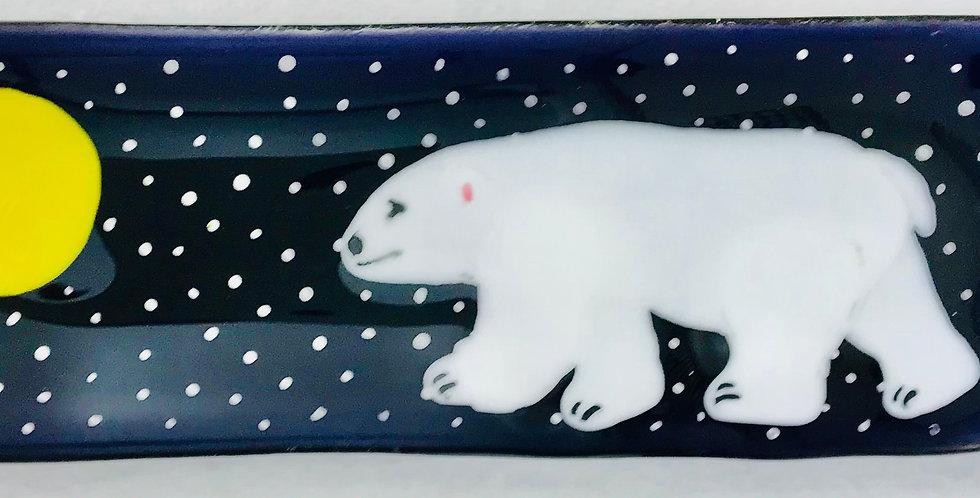 Polar Bear and Moon