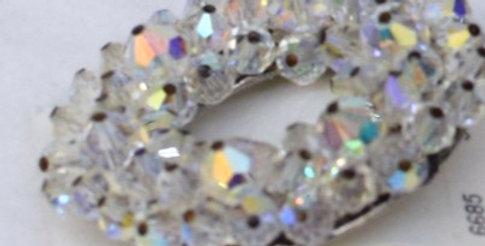 Clear Crystal Circle Pin